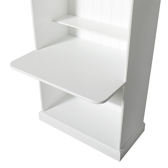 Tablette de bureau pour bibliothèque Seaside 182 cm Blanc Oliver Furniture