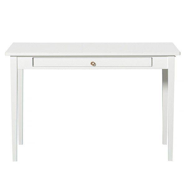 Bureau 1 tiroir Seaside  Blanc Oliver Furniture