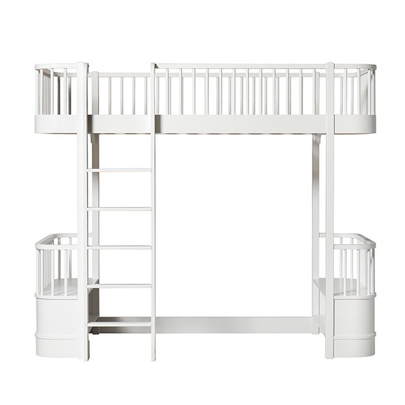 Lit mezzanine Wood - Blanc Blanc Oliver Furniture