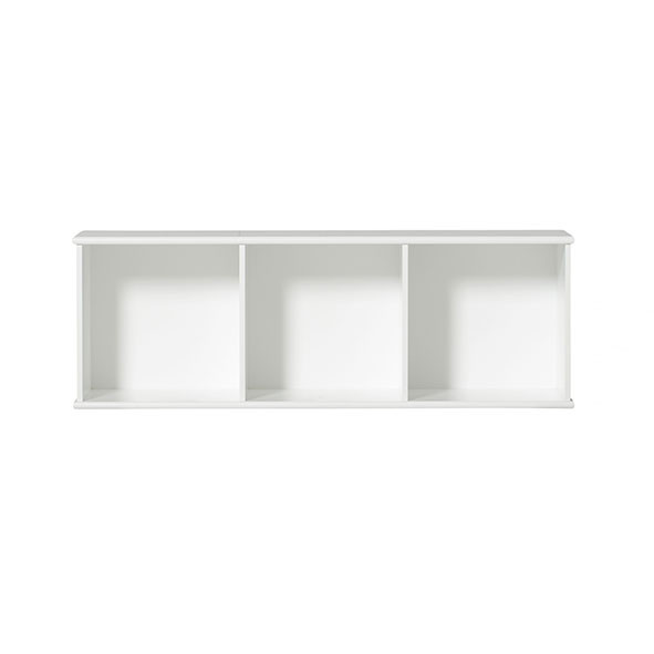 Etagère Wood 3 x 1 Blanc Oliver Furniture