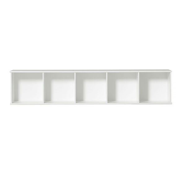 Etagère Wood 5 x 1 Blanc Oliver Furniture