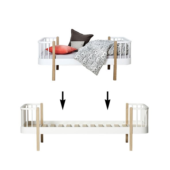 Kit de conversion Wood - Lit junior à lit simple Blanc Oliver Furniture
