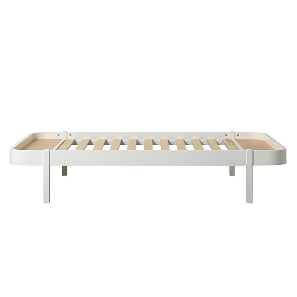 Lit Wood Lounger 120 x 200 - Blanc  Blanc Oliver Furniture