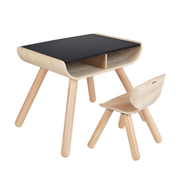 Table et chaise enfant Naturel Plantoys
