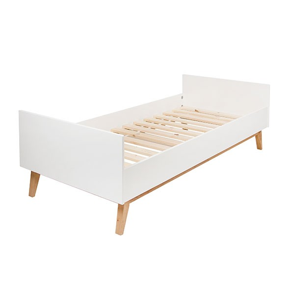 Lit Simple Trendy 90 x 200 cm - Blanc  Blanc Quax