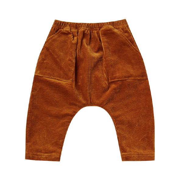 Pantalon Velours Côtelé - Cannelle Orange Rylee + Cru