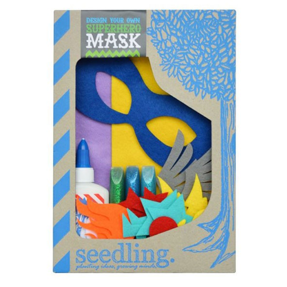 Kit dessine ton masque de super-héros  Multicolore Seedling
