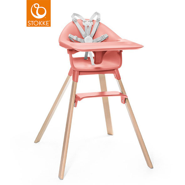 Chaise Haute CLIKK - Corail Orange Stokke®