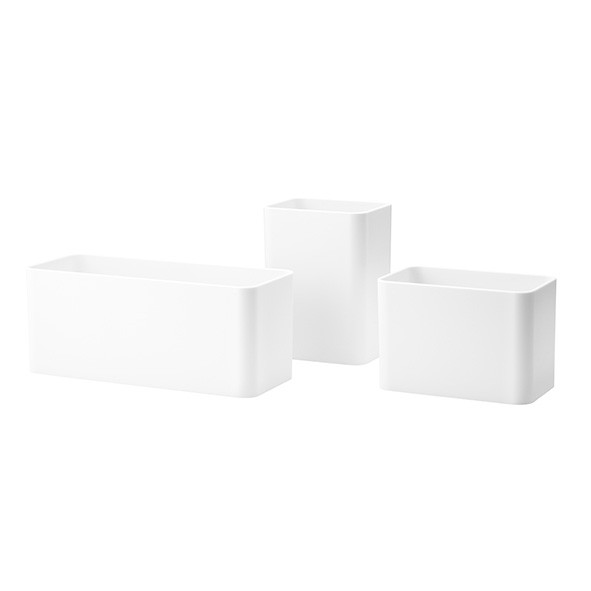 Set de 3 pots de rangement - Blanc Blanc String Furniture