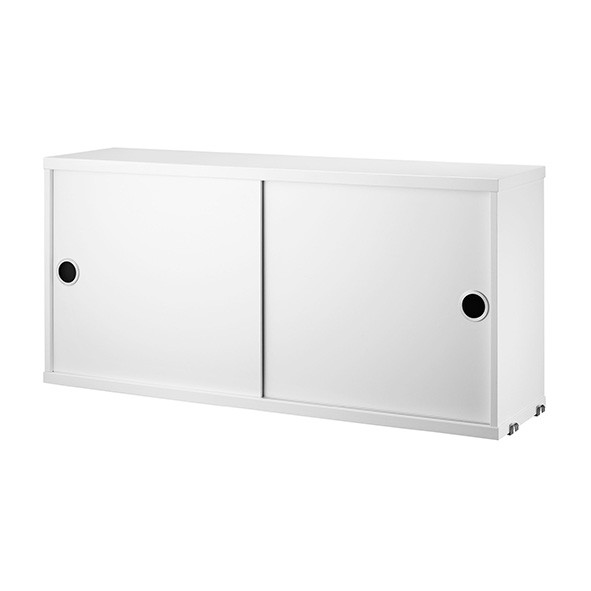 Caisson 2 portes coulissantes 78 x 20 cm - Blanc Blanc String Furniture