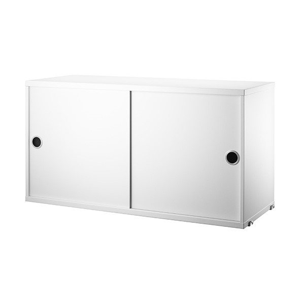 Caisson 2 portes coulissantes 78 x 30 cm - Blanc Blanc String Furniture