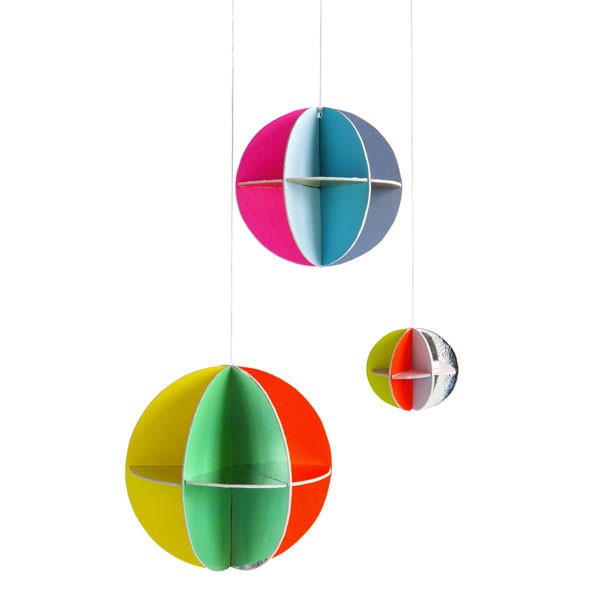 Carte pop out Boules décoratives Multicolore Kidsonroof