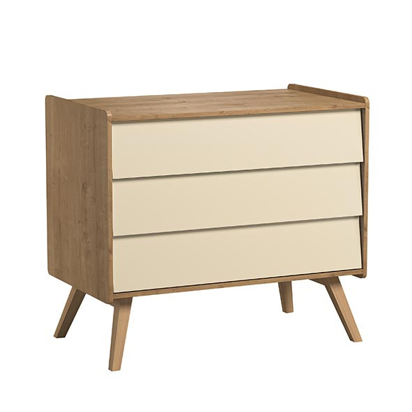 Commode 3 tiroirs Vintage - Nature / Jaune Naturel Vox
