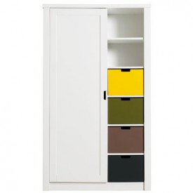 Armoire 1 porte Luxe Mix & Match - Blanc