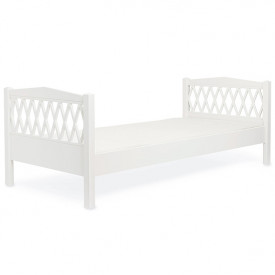 Lit simple Harlequin 90 x 200 cm - Blanc