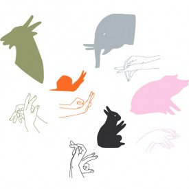 Sticker Animal Shadows