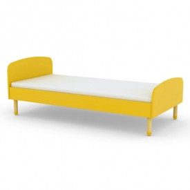 Lit simple PLAY 90 x 200 - Jaune