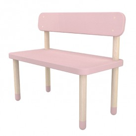 Petit banc PLAY - Rose