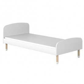 Lit simple PLAY 90 x 200 - Blanc