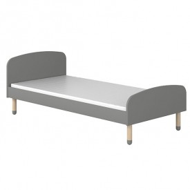 Lit simple PLAY 90 x 190 - Gris