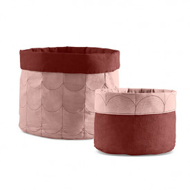 Lot de 2 paniers en tissu Room - Misty Rose