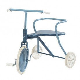Tricycle en métal - Bleu