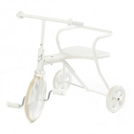 Tricycle en métal -  Blanc