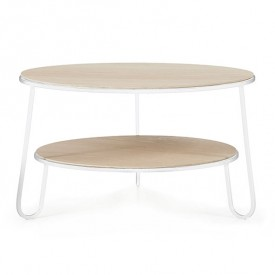 Table basse Eugénie 70 cm - Blanc