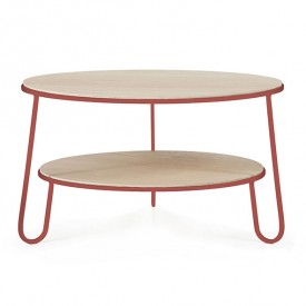 Table basse Eugénie 70 cm - Rose pomelo