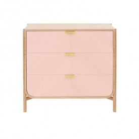 Commode 3 tiroirs Marius - Rose