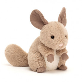Peluche Chinchilla Cheeky - Sable (15 cm)