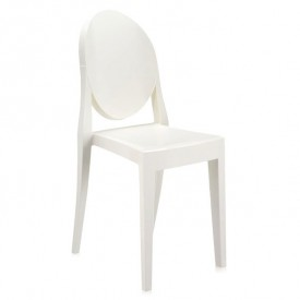 Chaise Victoria Ghost Opaque Blanc
