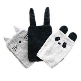 Set de 3 gants de toilette - Classic