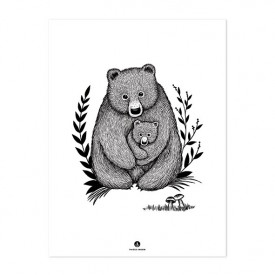 Affiche Famille Ours (30 x 40 cm)