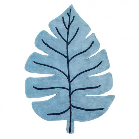 Tapis Monstera Bleu