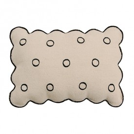 Coussin Brodé 50 x 35 cm - Biscuit
