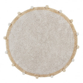 Tapis Bubbly 120 cm - Naturel / Miel