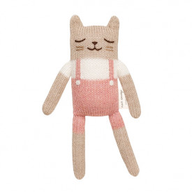 Doudou Chaton - Salopette Rose