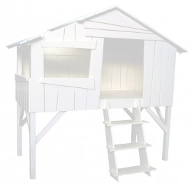 Lit Cabane Pin Massif Multicolore Mathy by Bols