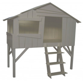 Lit Cabane - Lin Marron / Taupe Mathy by Bols