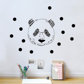Sticker tête de panda