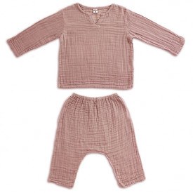Ensemble Pyjama Zac - 1-2 ans - Dusty Pink