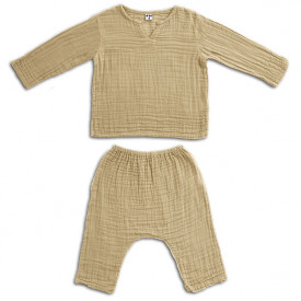 Ensemble Pyjama Zac - 1-2 ans - Mellow Yellow