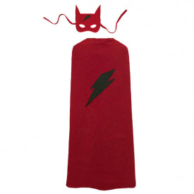 Cape et Masque de Super Hero - TU - Ruby Red