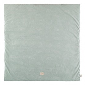 Tapis carré Colorado Bubble - Elements - Aqua / Blanc