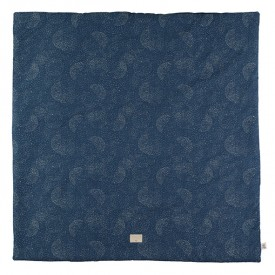 Tapis carré Colorado Bubble - Elements - Bleu nuit / Or