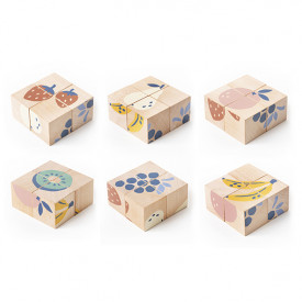 Cubes en bois - Fruits