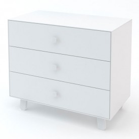 Commode Merlin 3 tiroirs - Sparrow - Blanc