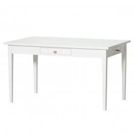 Bureau Junior Seaside - Blanc & Cuir