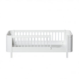 Lit Junior 68 x 162 cm Wood Mini+ - Blanc